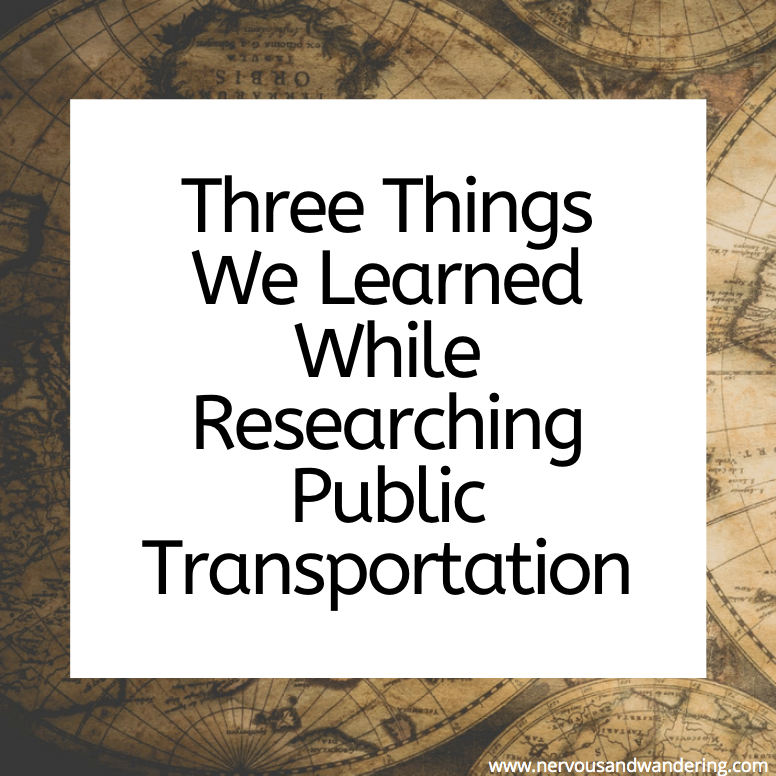 Three Things We Learned While Researching PublicTransportation